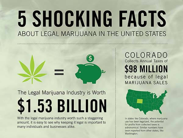 Legal Marijuana in the United States–5 Shocking Facts [Infographic]